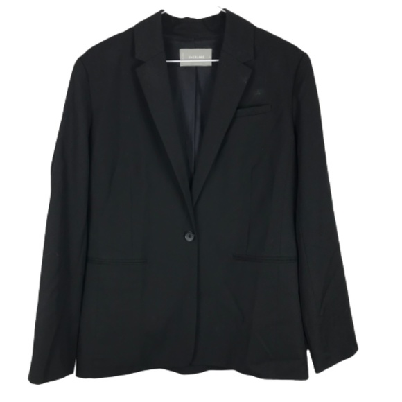 Everlane Oversized  Blazer Size 8 Wool Black